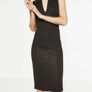 NWT Zara Bodycon Midi Dress